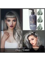 Полутрайна професионална боя за коса без Амоняк цвят сиво - Radical