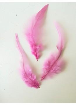 Декорация - пера остри лукс розово-цикламено пакет 10 бр