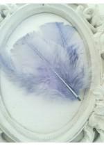 Декорация - пера гълъбово синьо сиво лукс оформени пакет 10 бр