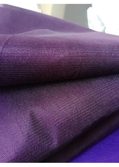 Тюл за дрехи и декорация цвят тъмен виолет- ширина 3 метра
